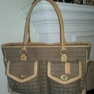 Coach 5376 Business Briefcase Laptop Travel Bag